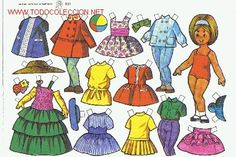 lote de muñecas recortables | 26967210