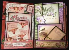 annes papercreations: Graphic 45 Time to flourish 8 x 5 mini album part 2