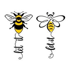uploaded Let It Bee Cuttable Design Apex Embroidery, Embroidery Patterns, Bee Art, Cricut Explore Air, Bee Crafts, Cutting Tables, Silhouette Cameo Projects, Bees Knees, Cricut Creations