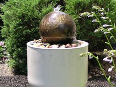 Bowling Ball Garden Art  Water Feature.