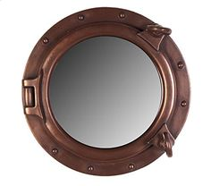 12'Dia Bronze Finish Wall Mount Porthole Mirror * Check out the image by visiting the link. (This is an affiliate link and I receive a commission for the sales)