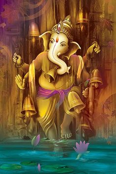 Ads Art Poster Wall decorative and Personalise Greeting cards Lord Ganesha Paintings, Lord Shiva Painting, Ganesha Art, Krishna Painting, Shiva Art, Jai Ganesh, Shree Ganesh, Ganesha Drawing, Ganesha Tattoo