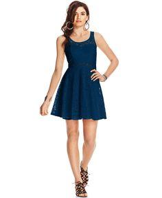 American Rag Lace Illusion Skater Dress