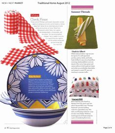Our Vintage Swimsuit Percale Bedding in the August issue of Traditional Home.