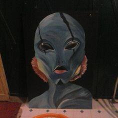 large abe sapien painting