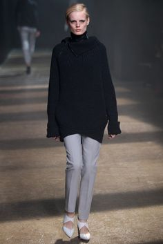 Phillip Lim - love this dove grey pant and oversized sweater. RTW Fall 2012