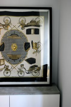 DIY Superlarge Frame (approx 1 x 1 m), for a Hermes Scarf at An Interior Affair