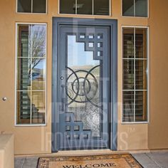 Iron Entry Doors from First Impression Ironworks are crafted uniquely for your home. Our steel entry doors are an investment … Entrance Doors, The Doors, Windows And Doors, Patio Doors, Sliding Doors, Door Gate Design, Main Door Design, Tor Design, Window Grill Design