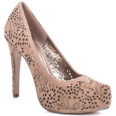 $114.99-$114.99 BCBG Polka - Mauve Glow - Cut the rug in these exquisite pumps from BCBG.  Polka has a soft mauve suede upper with intricate laser cut details through out.  A 3/4 inch platform and a 4 1/2 inch platform finish off this beautifully crafted style. http://www.amazon.com/dp/B0071AK2YQ/?tag=icypnt-20