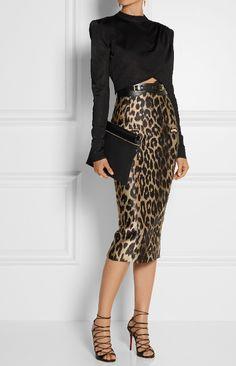 BALMAIN top+skirt LOUBOUTIN shoes Vestidos Midi 460423993e8
