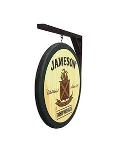Guinness   round plaque wooden sign mancave shed bar pub 14inch