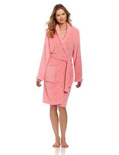 5bc3aca085 Amazon.com  Seven Apparel Hotel Spa Collection Herringbone Textured Plush  Robe