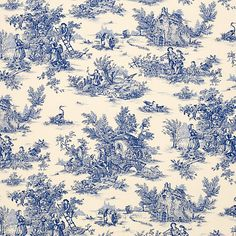 Green toile fabric French country double wide from Brick House Fabric: Novelty Fabric French Fabric, Novelty Fabric, Roman Blinds, All Things Purple, Fabulous Fabrics, Fabric Online, Square Quilt, Linen Fabric, John Lewis