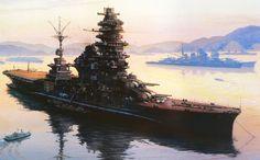 Ise dreadnought 1944 - Otra del IJN Ise, cabeza de su clase. Ésta quizá de mayor calidad que la anterior, ya que sus detalles se aprecian mejor.