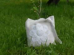 Handmade cotton & lace bag