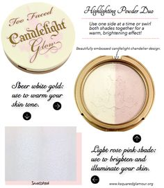 Looking for a new highlighting powder to give your cheeks and face a beautiful and youthful glow? Then you might want to check out the Too Faced Candlelight Glow Highlighting Powder Duo. This highlighting powder is a split pan giving you two equal size powders in a sheer white gold (use to warm your skin tone) and light rose pink shade (use to brighten and …  Click Here to See More >>