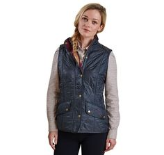 Cavalry Quilted Gilet in Navy and Red by Barbour #Barbour