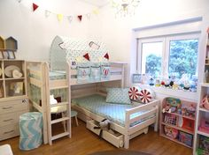 Room Ideas Bedroom, Girls Bedroom, Kid Beds, Bunk Beds, Dance Bedroom, Cool Kids Rooms, Guest Bedrooms, Dream Rooms, Girl Room