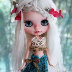 OOAK Custom Blythe Doll NERIDA MERMAID by Cihui by BlythebyCihui