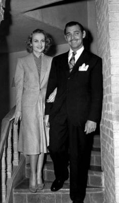 Carole Lombard opted for a simple dove-gray suit for her marriage to Clark Gable on March 29, 1939