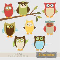 Owl Clip Art | Owl clip art by Clementine Digitals