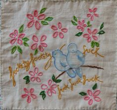 the textile blog: The Profanity Embroidery Group