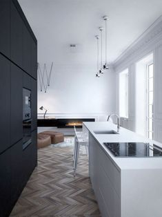 'Minimal Interior Design Inspiration' is a biweekly showcase of some of the most perfectly minimal interior design examples that we've found around the web - Interior Design Examples, Interior Modern, Interior Design Kitchen, Interior Design Inspiration, Interior Architecture, Scandinavian Interior, Luxury Interior, Luxury Decor, Design Ideas