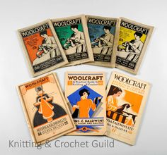 Early editions of Paton's Woolcraft, a knitter's essential. From the 1920s and 30s