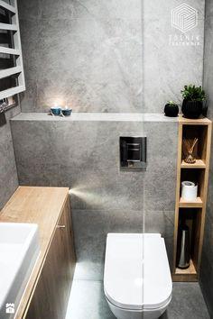 Pequenos banheiros ▪ contraste entre madeira e concreto | small bathroom ▪ light wood & concret