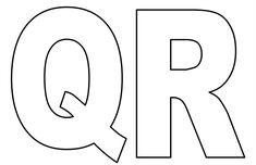 molde letras q e r