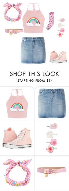 """Color kawaii"" by nastya-anas-mikheeva on Polyvore featuring мода, Givenchy, Converse, Accessorize, Maison Michel и Dolce&Gabbana"