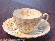 Vintage Shelley Fluted Floral Porcelain Tea Cup & Saucer MINT