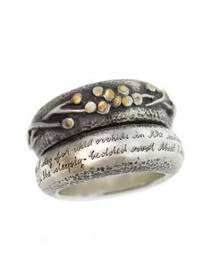 "Ring | Jeanine Payer. ""Izumi Two"". 22k gold and sterling silver"