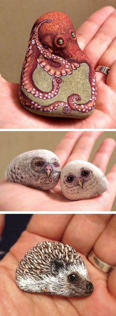 DIY Ideas Of Painted Rocks With Inspirational Picture And Words (72) - Onechitecture
