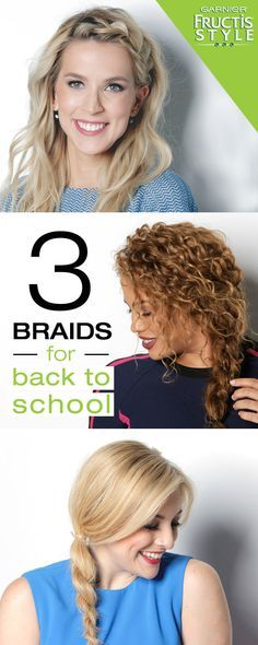 Upgrade your hair this fall with 3 easy braids that, no matter what the occasion. Whether it's the perfect rope braid, deep side braid or curly side braid, try these on-trend looks with Garnier Fructis.  Go back to school in style! Get more braids and hairstyle how to's at garnierstyle.com