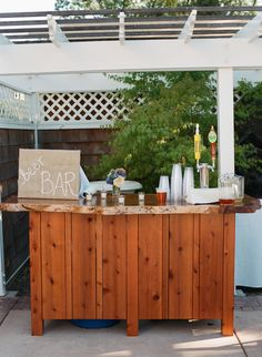 Outdoor bar, i'll turn it into a kitchen:)