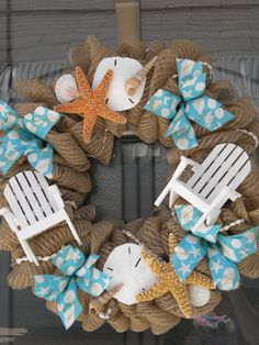 Front Door Modern Wreaths For Beach Coastal Wreaths For Your Holiday Door Coastal Living. Front Door Wreaths Entry Traditional With Covered Entry . Two Front Door Exterior Tropical With Door Wreaths White . Home Design Ideas Seashell Crafts, Beach Crafts, Summer Crafts, Diy And Crafts, Nautical Wreath, Starfish Wreath, Modern Wreath, Deco Mesh Wreaths, Burlap Wreaths