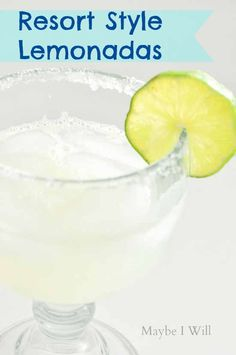 This Mexican Resort Style Lemonada Drink will have you dreaming you are poolside or make the perfect crowd pleaser for your Cinco De Mayo celebration! Non Alcoholic Drinks, Bar Drinks, Cocktail Drinks, Cocktails, Refreshing Drinks, Summer Drinks, Drink Cart, Beverage Cart, Great Recipes