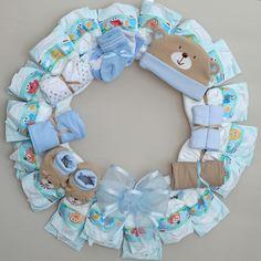 Diaper Wreaths | Premium Diaper Wreath CUSTOM Medium by simplyrosy on Etsy