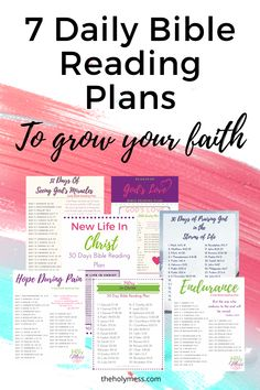 Grab these printable Bible Reading Plans to help grow your faith. #printablefaith #biblereadingplan #scritpurewritingplans #growyourfaith