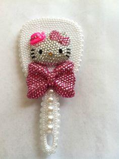 3D Decoden Hello Kitty Japanese Kawaii Mirror With Handle