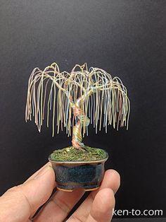 Weeping willow wire bonsai tree by Ken To by KenToArt.deviantart.com on @deviantART