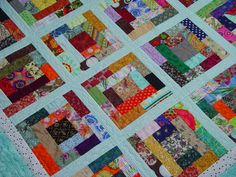 Scrappy quilt - can use 1 1/2 inch or 2 1/2 inch die