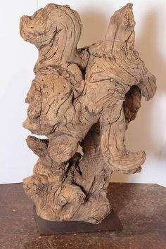 Organic Natural Driftwood Sculpture | From a unique collection of antique and modern sculptures at https://www.1stdibs.com/furniture/decorative-objects/sculptures/