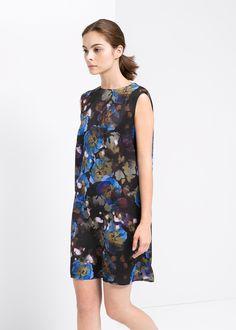 Gebloemde rechte jurk #wishlst #mango