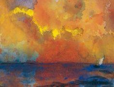 Emil Nolde, Meer im Abendlicht, c.1938-45