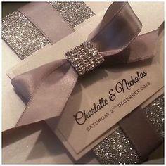Luxury Wedding Invitations | Handmade Luxury Pocketfold Wedding Invitation Diva Crystal Sample ...