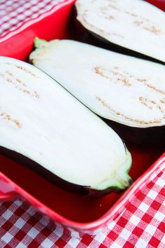 Eggplant Parmesan Boats - omit the sausage, replace with other veggies and this sounds yummy.