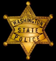 Either an old badge or a fake, Washington has the State Patrol and no State Police Law Enforcement Badges, Law Enforcement Officer, Law Enforcement Agencies, Military Police, State Police, Police Officer, Police Cars, Police Badges, Fire Badge