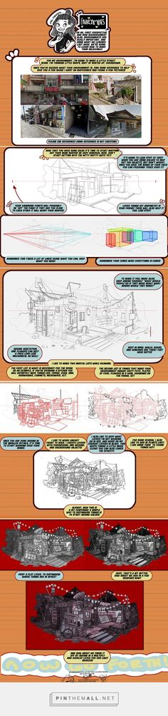 Two point perspective Drawing Techniques, Drawing Tips, Drawing Reference, Perspective Drawing, Point Perspective, Background Drawing, Digital Art Tutorial, Anatomy Drawing, You Draw